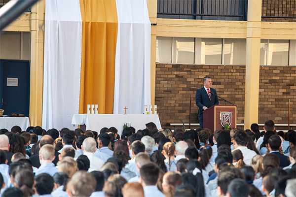 All Saints Catholic College News and Events school in assembly