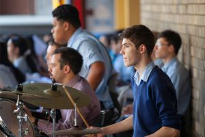 All Saints Catholic College News and Events students in a school band