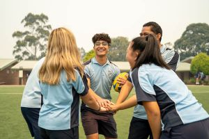All Saints Catholic College Co-curricular Sport - students playing football