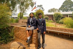 All Saints Catholic College Mission and Values - students on school grounds