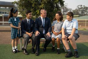 All Saints Catholic College Principals Message Principal with students